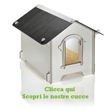 Cucce per cani da esterno grandi e piccole in legno for Cucce per cani da esterno coibentate