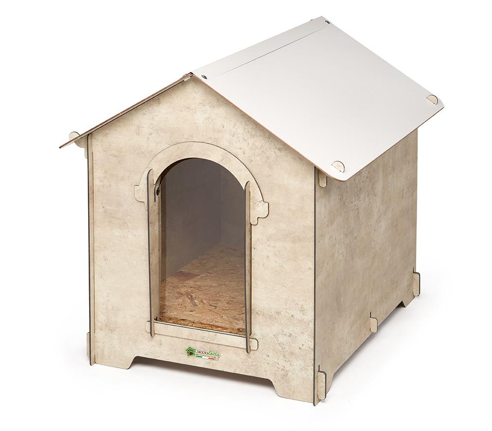 Cuccia classica color legno bianca cucce per cani for Cancelletti per cani da esterno