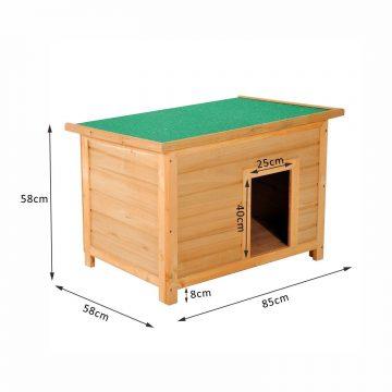 Cuccia impermeabile in legno di abete per cani taglia for Cuccia cane fai da te legno