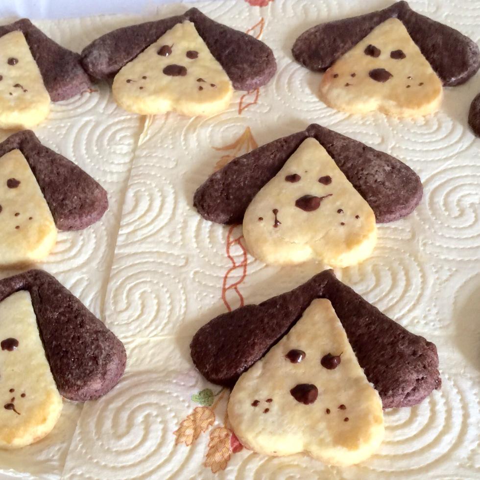 biscotti a forma di cane e di cuccia per cani